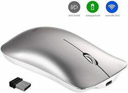 Wireless Mouse, Inphic Slim Silent Click Rechargeable 2.4G W