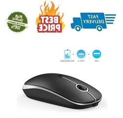 Wireless Mouse Jelly Comb Optical Mouse 2.4G Type-C with