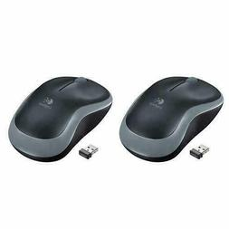 Logitech Wireless Mouse M185 Gray Packaging Set Of 2  Free S
