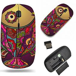 Luxlady Wireless Mouse Travel 2.4G Wireless Mice with USB Re
