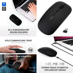 inphic Wireless Mouse, Slim Silent Click Rechargeable 2.4G M