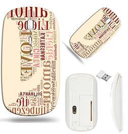 Luxlady Wireless Mouse White Base Travel 2.4G Wireless Mice