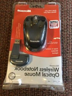 Microsoft Wireless Notebook Optical Mouse - New Slate snap i