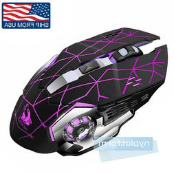 Wireless Optical Gaming Mouse Rechargeable Mice + USB Receiv