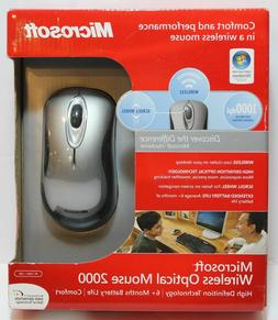 Microsoft Wireless Optical Mouse 2000- Sterling Grey