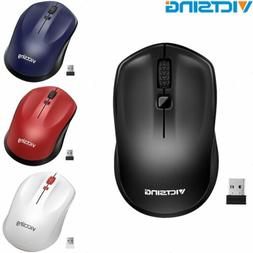 VicTsing 2.4GHz Wireless Optical Mouse Mice USB Receiver Ergonomic for PC Laptop