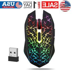 Wireless Optical USB Mice Gaming Mouse 7 Color LED Backlit R
