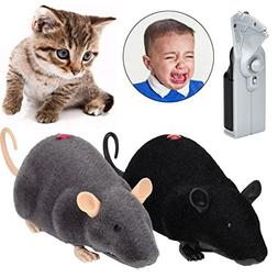 Wireless Remote Control Electric LED Plush Mouse Rat Toy Foo