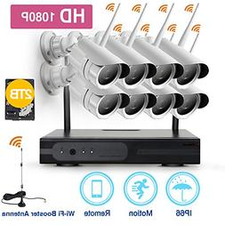 ZGWANG Wireless Security Cameras- 8 Pack- HD 1080P Indoor/Ou