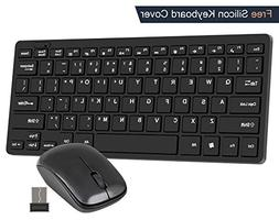Wireless USB Keyboard and Mouse Combo CHONCHOW 2.4G Portable
