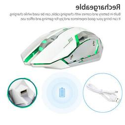Wireless USB Optical Gaming Mouse Rechargeable X7 Backlit La