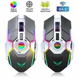 Wireless USB Optical Mice Gaming Mouse 7 Color LED Backlit R