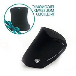 2.4G Wireless Vertical Ergonomic Optical Mouse, 800/1200/160