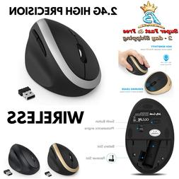 Wireless Vertical Mouse 2.4G High Precision Jelly Comb Optic