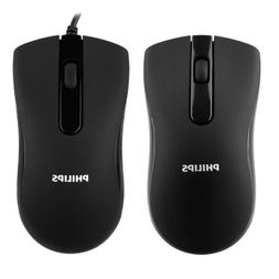 Philips Wireless Wired Mouse for PC Laptop Computer Desktop