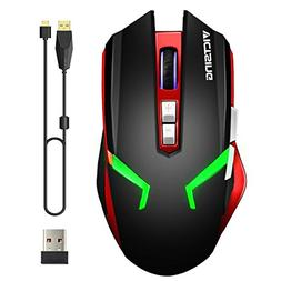 VicTsing Wireless & Wired Rechargeable Gaming Mouse, Dual Mo
