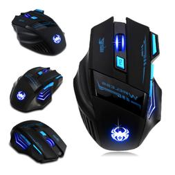 Zelotes Wireless Gaming Mouse LED Optical 2400 DPI Notebook